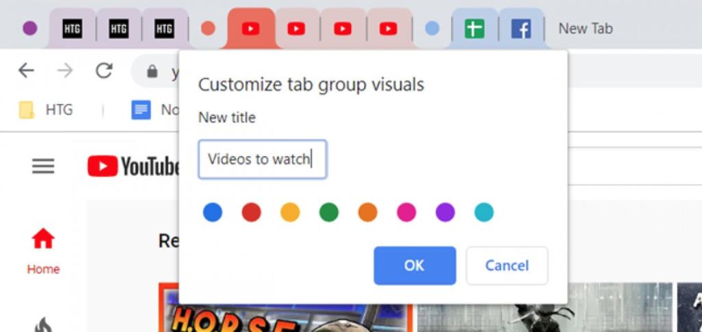 Chrome Sekme Gruplama Özelliği
